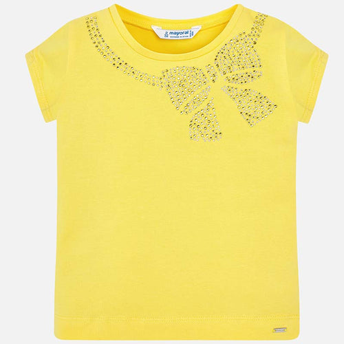 Yellow T-Shirt with Bow - 174-84