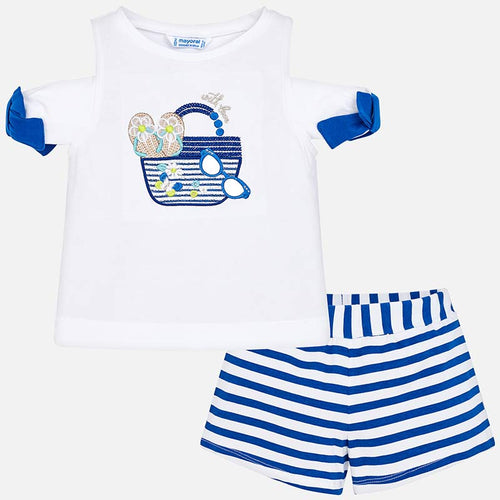 Summer Shorts & T-shirt Outfit - 3218-53
