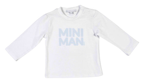 White Mini Man Long Sleeve Top - 352-8591-20