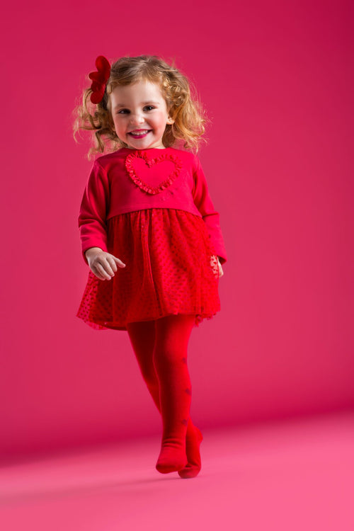 Heart Dress and Tights - 6223