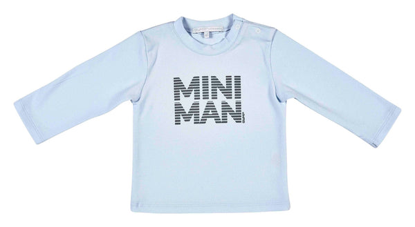 Pale Blue Mini Man Long Sleeve Top - 352-8591-20