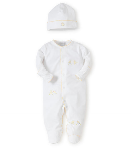 Neutral Cotton Babygrow & hat - S1848385