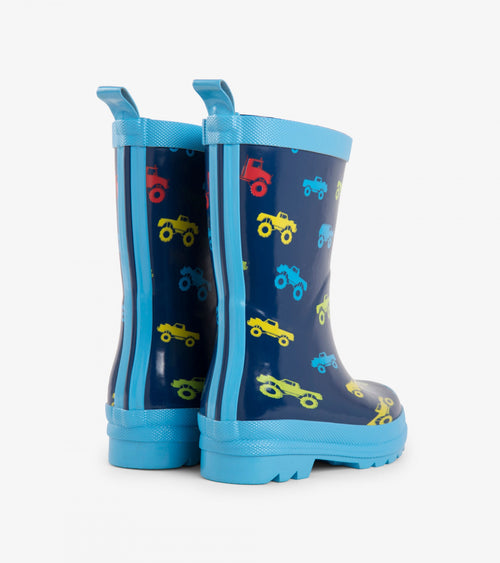 Colourful Monster Trucks Rain Boots