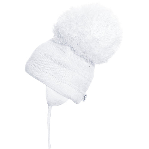 Satila Tuva Pom Pom Hat - White