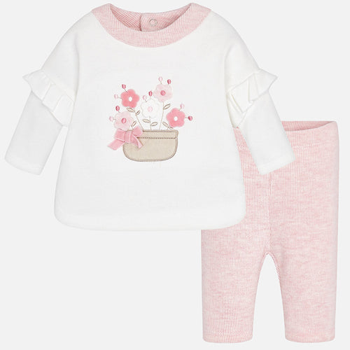 Set of 2 T-Shirt and Leggings Outfit - 2772-3