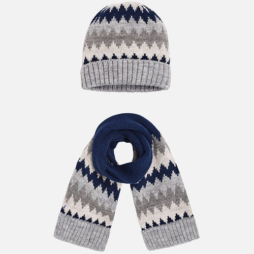 Knitted Hat and Scarf Set - 10447-22