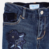 Embroidered Jeans - 4546-26