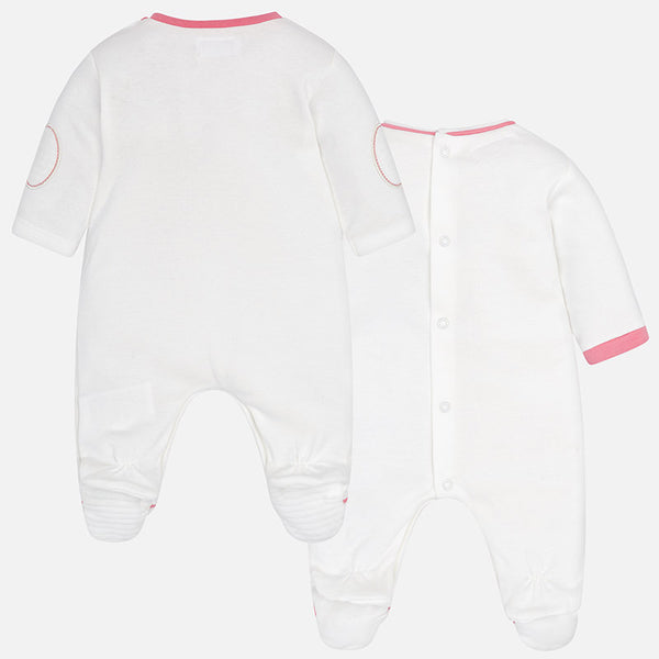 Pack of Two Pyjamas/Babygrow - 2740-76