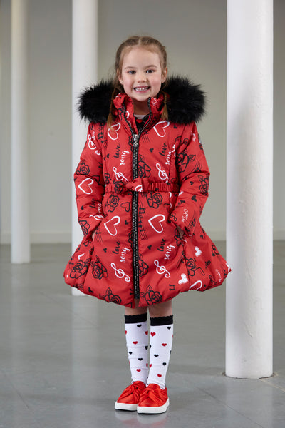 Janice Red Love Song Winter Coat - W183200