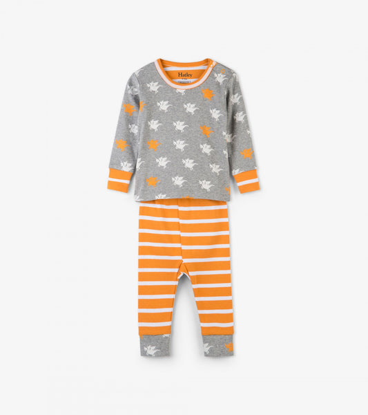 096365d78 Silhouette Dragons Organic Cotton Baby Pajama Set – Lily and Roux