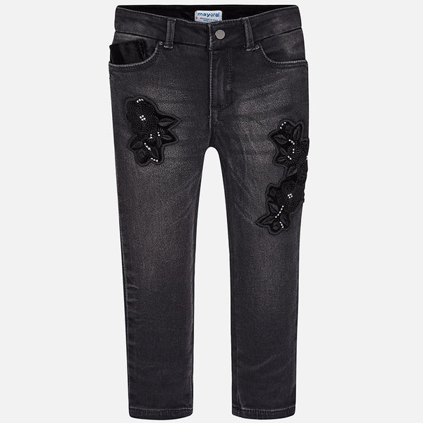 Embroidered Jeans - 4546-27