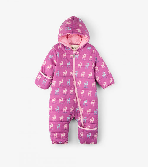 Patterned Fawns Baby Winter Bundler - Snowsuit