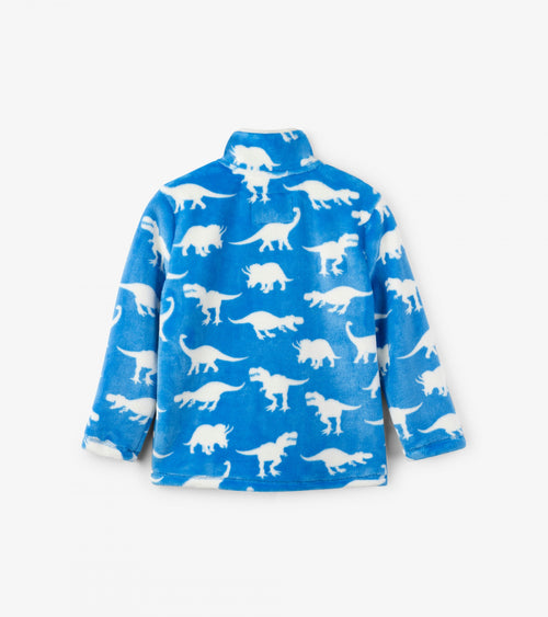 Roaming Dinos Fuzzy Fleece Zip Up