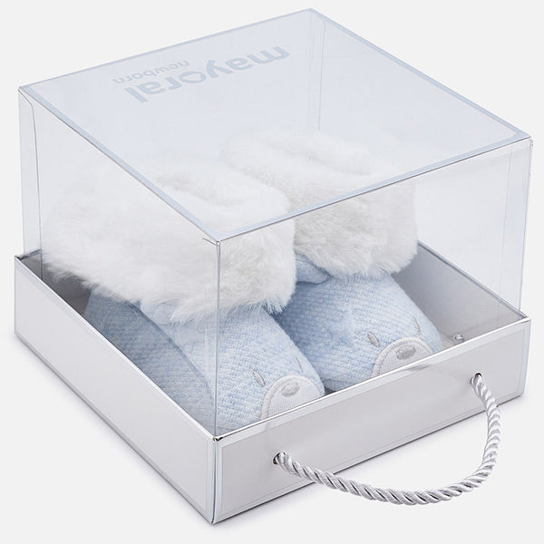 Faux Fur Pram Booties- 9916-68