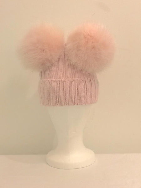 79f90e71f67 Double Pom Pom Hat - Pink – Lily and Roux