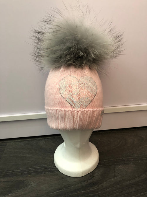 Single Pom Pom Hat - Pink