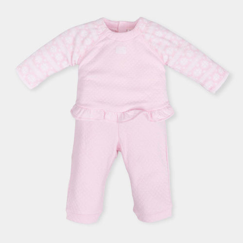 Two Piece Soft Pale Pink Outfit - 5686