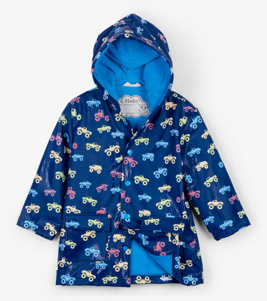 Colour Changing Monster Trucks Classic Boys Raincoat