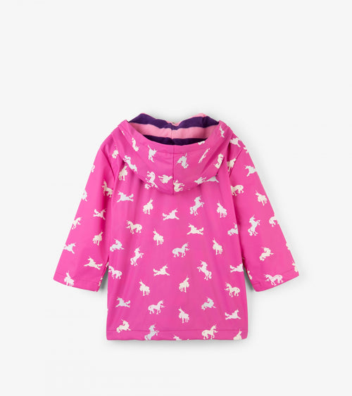 Colour Changing Unicorn Silhouettes Classic Girls Raincoat
