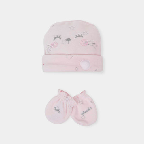 Velour Hat and Mittens Set - 5988