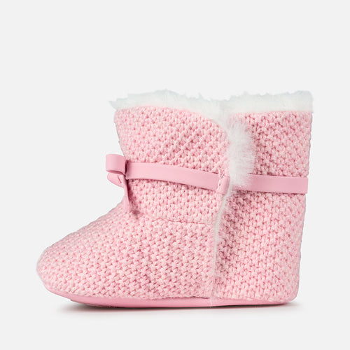 Faux Fur Pram Booties- 9927-33