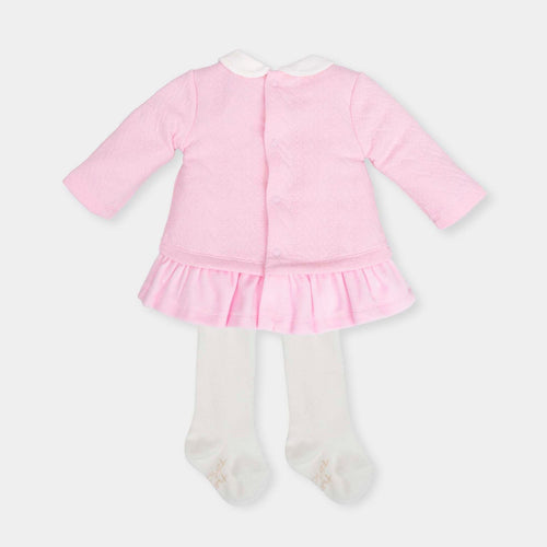 Fleece Dress and Tights Outfit - 5284