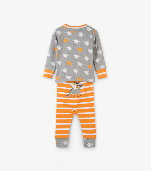 Silhouette Dragons Organic Cotton Baby Pajama Set