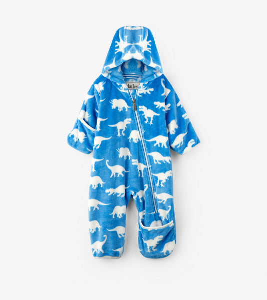 Roaming Dinos Fuzzy Fleece Baby Bundler