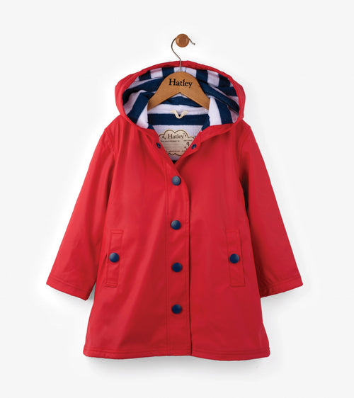Red with Navy Stripe Splash Jacket