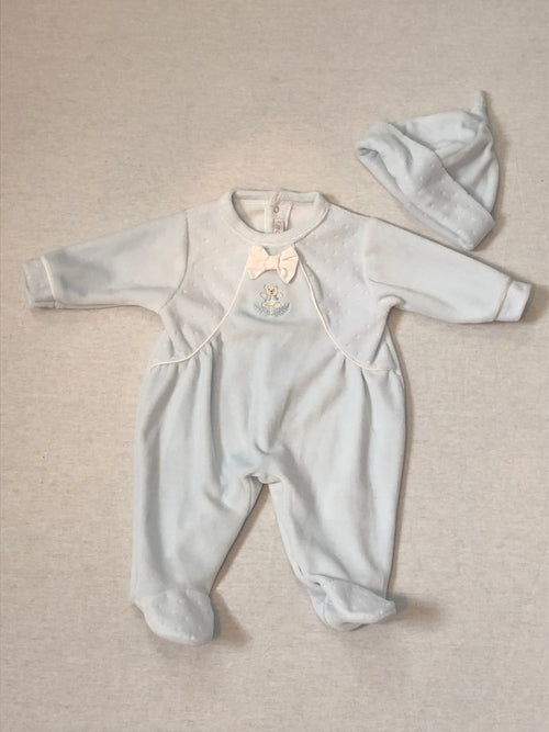 Velour Babygrow & Hat Set - A6056