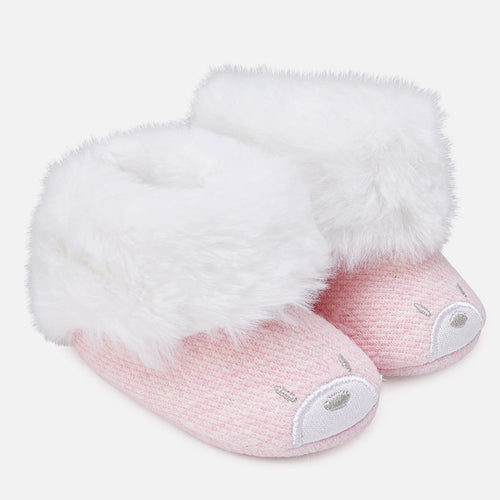Faux Fur Pram Booties- 9916-71