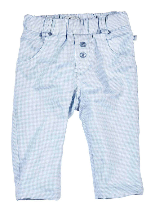 Checked Pale Blue Soft Trousers - 410-8711-20