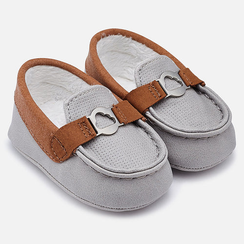 Leatherette Moccasins Pram Shoes - 9919-88