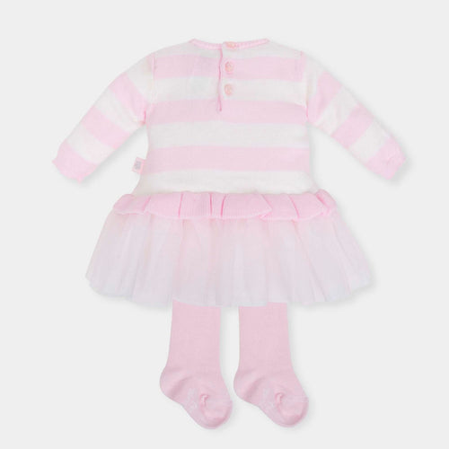 Tutu Knit Dress and Tights Outfit - 5220
