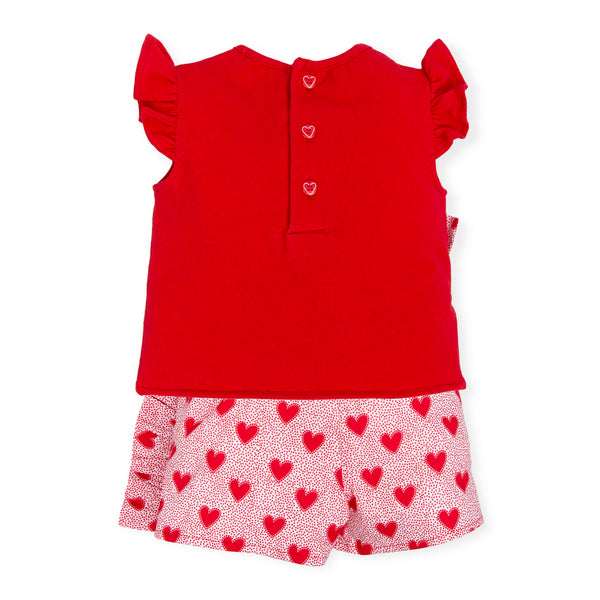 Love Heart Top and Shork Outfit - 7620