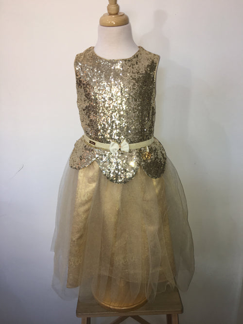 Belle- Gold Sequin Dress