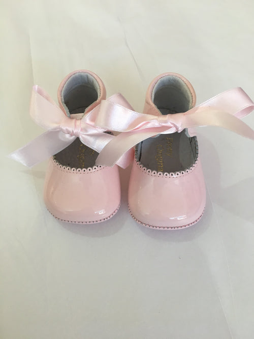 Pink Patent Pram Shoes - UE02292 UL