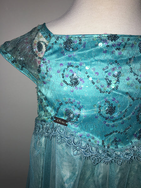 Elsa- Turquoise Swirl Dress