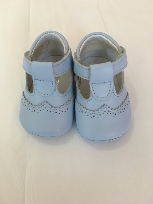 Pale Blue Pram Shoes - UE03284