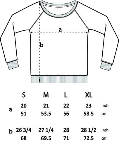 Womens sweatshirt size guide