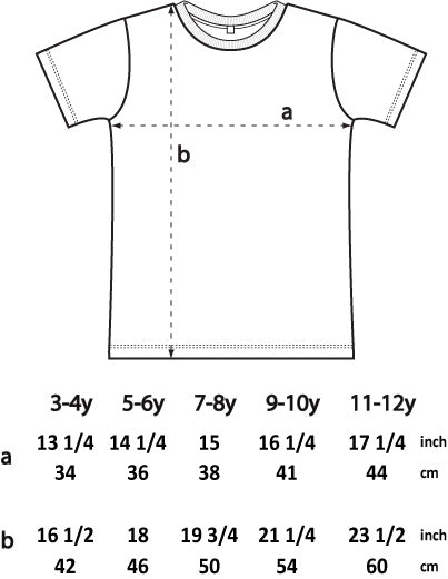 Junior t-shirt size guide
