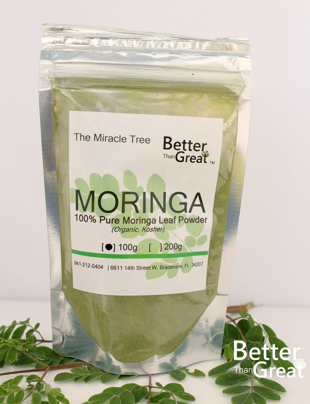 Pure Moringa Leaf Powder | 100g Bag
