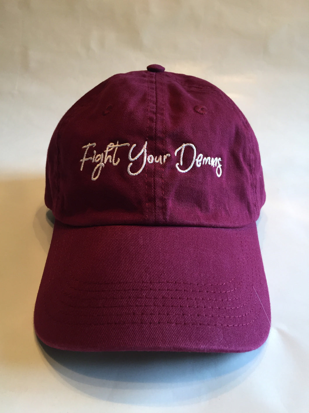 Fight Your Demons Dad Hat - Burgundy
