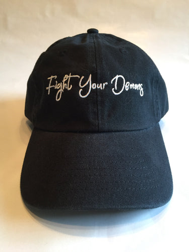 Fight Your Demons Dad Hat - Black