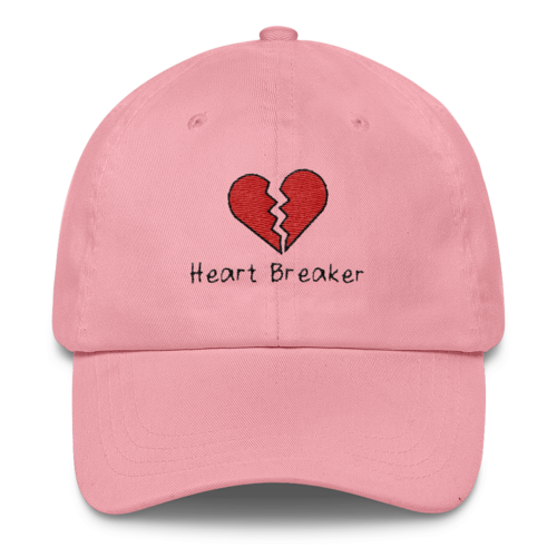 Heart Breaker Dad Hat - Pink