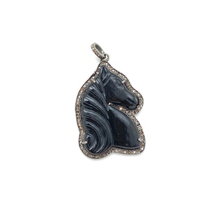 Carved Horse Head Pendant