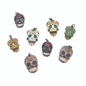 Pave diamond Sugar skulls
