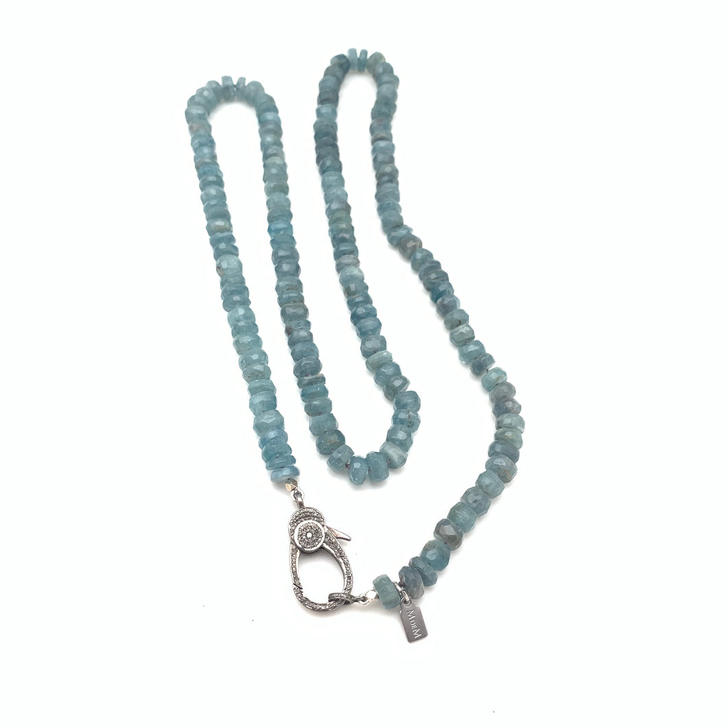 Kyanite and diamond clasp