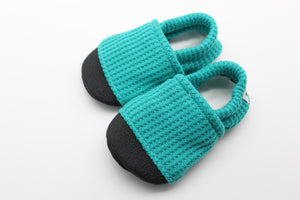 Teal Waffle Knit Everyday Moccasins Preorder | 12.3.2020