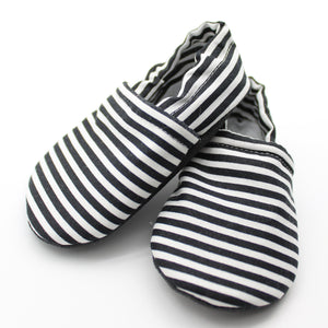 Black w White Stripes Everyday Moccasins Preorder | 3.4.2021
